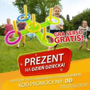 Zbliża się Dzień Dziecka, a my na tę okazję mamy świetną promocję! 🤩 GRA SERSO GRATIS do zamówień powyżej 69zł! ❤ Wpisz w koszyku kod o treści DD, aby otrzymać super prezent, który uatrakcyjni zabawę na podwórku! 😁Promocja dostępna tylko w sklepie Brykacze.pl.Promocja trwa do 20.05.2021 lub do wyczerpania zapasów!#promocja #gratis #serso #zabawkiogrodowe #gry #aktywność #zabawa #fun #dziendziecka #dziecko #zabawki #zabawkidladzieci #brykacze